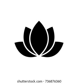 lotus - india icon, vector illustration, black sign on isolated background