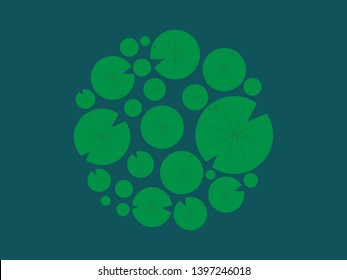 Lotus leaf pattern vector. Lotus leaf symbol. wallpaper. free space for text. background. blank.