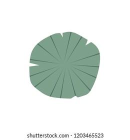 lotus leaf vector. symbol.