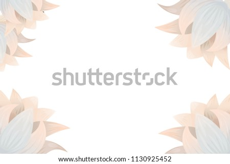 Lotus Lily Flower Backdrop Greeting Card Stock Vector Royalty Free