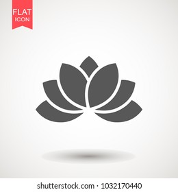 Lotus / Lily Flower Icon. Spa icon. Element relaxation and rest icon. Premium quality graphic design. Signs, outline symbols collection icon for websites, web design, mobile app on white background