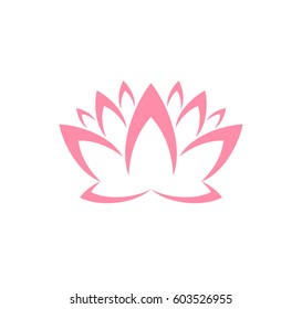 Lotus. Logo. Abstract flower on white background