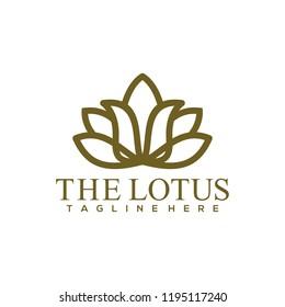Lotus Logo Design. Lotus Flower Logo Vector. Lotus Spa Logo Template