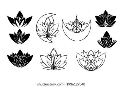Lotus logo. Flat logo illustration for your design
