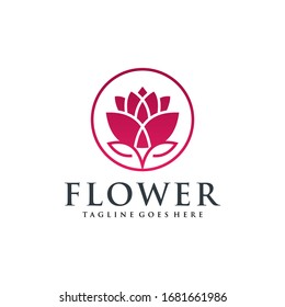 Lotus Logo and Icon Vector Template