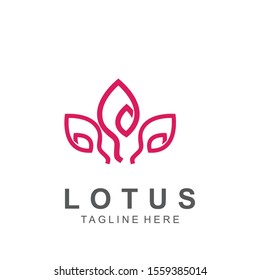 Lotus logo with modern concept. Icon lotus vector illustration