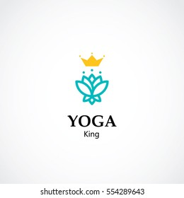 lotus logo, yoga and health care business concept