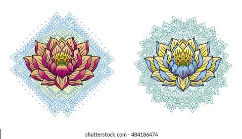 lotus and mandala color