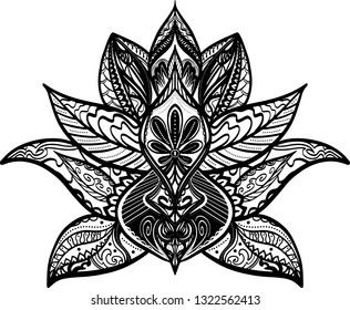 Lotus (Mandala) design - vector