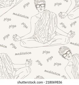 lotus position meditation and yoga pattern
