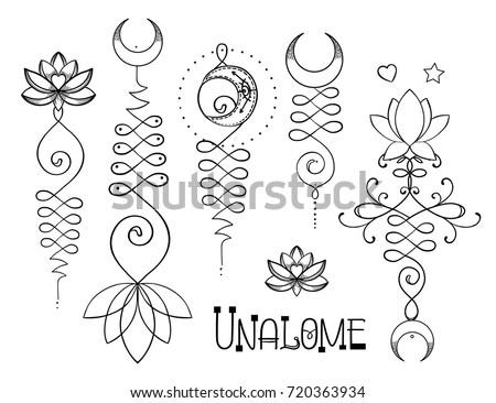 Lotus Sacred Geometry Unamole Hindu Symbol Stock Vector Royalty