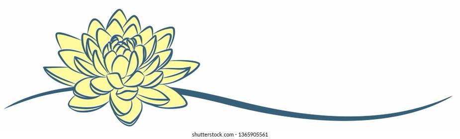 A lotus symbol.