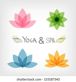 Lotus symbol.Yoga & Spa