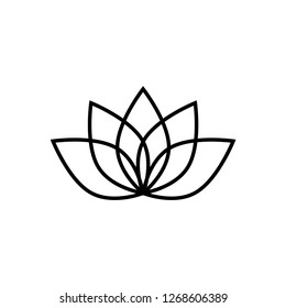 Lotus vector icon