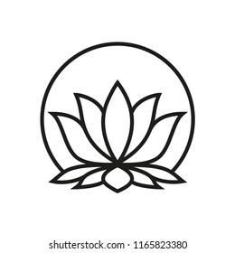 lotus vector icon, flower icon in trendy flat design