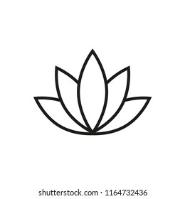 lotus vector icon in trendy flat design
