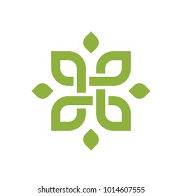 Lotus Wellness Logo Design Template Element