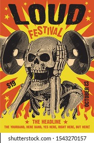Loud Rock Festival Gig Poster Flyer Template