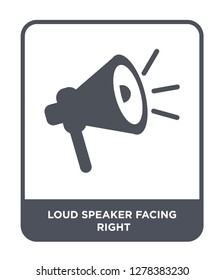 loud speaker facing right icon vector on white background, loud speaker facing right trendy filled icons from Cinema collection, loud speaker facing right vector illustration