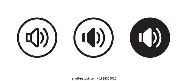 loud speaker icon, Voice , Record. recording Studio Symbol. volume icons button, vector, sign, symbol, logo, illustration, editable stroke, flat design style isolated on white linear pictogram