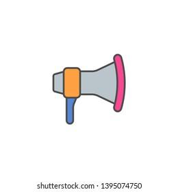 Loud speaker tool vector icon
