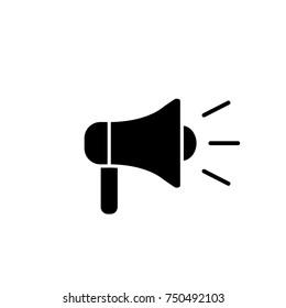 loudspeacker megaphone simple black icon