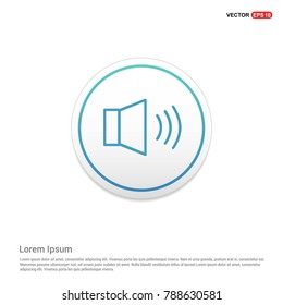 loudspeaker icon Background icon template