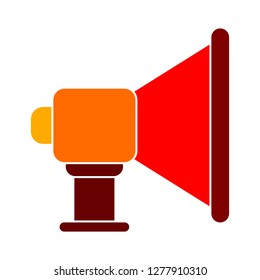 loudspeaker icon - loudspeaker isolate, announcement symbol illustration - Vector speaker