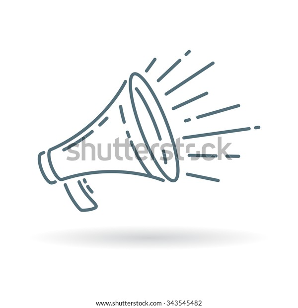 loudspeaker icon megaphone sign announcement symbol stock vector royalty free 343545482 https www shutterstock com image vector loudspeaker icon megaphone sign announcement symbol 343545482