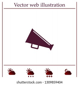 loudspeaker icon . Vector Eps 10