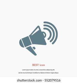 loudspeaker icon vector, flat design best vector icon