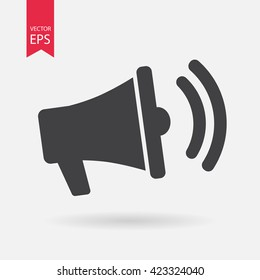 Loudspeaker icon vector, megaphone, loud speaker,  cheerleader, communication  sign Isolated on white background. Trendy Flat style for graphic design, logo, Website, social media, UI, mobile app, EPS