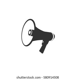 loudspeaker, megaphone, icon. vector
