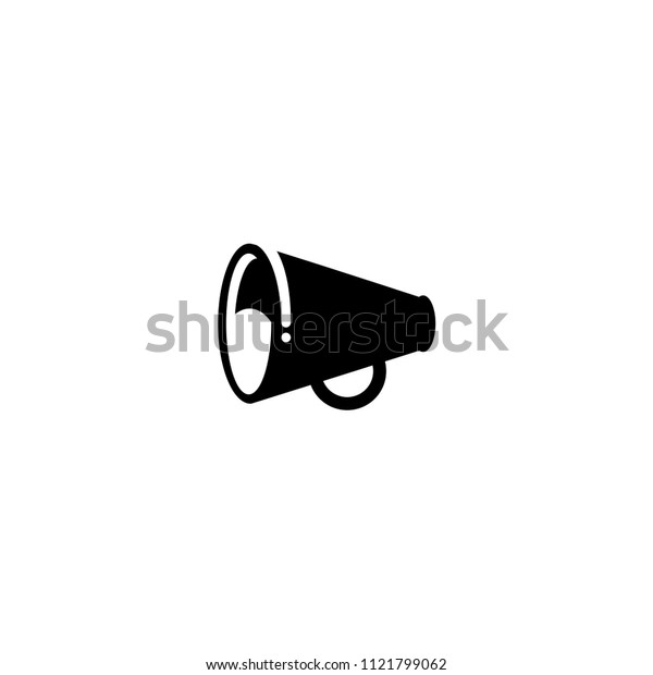 Loudspeaker, megaphone vector illustration icon symbol pictogram logo