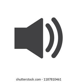 loudspeaker sound equipment icon vector