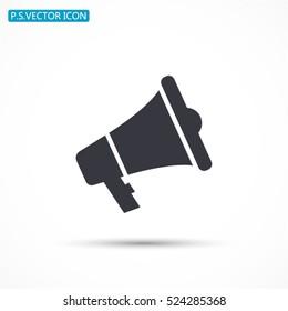loudspeaker .Vector icon 10 EPS