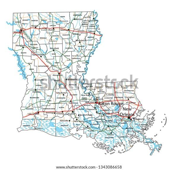 highway map of louisiana Louisiana Road Highway Map Vector Illustration Stock Vector highway map of louisiana