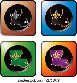 louisiana state colored square web icon