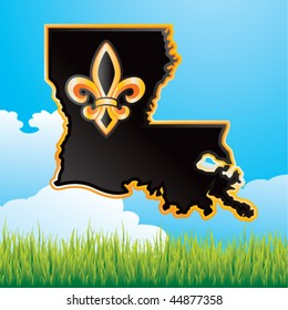 louisiana state countryside banner