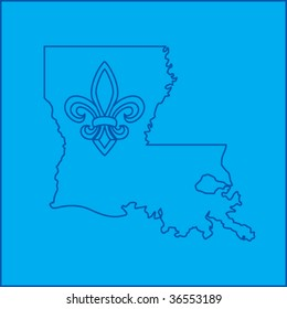 louisiana state shape blueprint