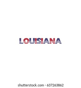 Louisiana text Colorful Letters Vector Illustration