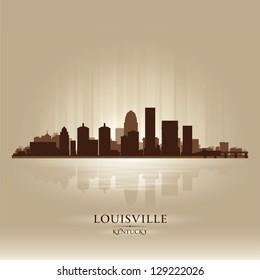 Louisville Kentucky skyline city silhouette