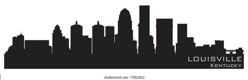 Louisville, Kentucky skyline. Detailed vector silhouette