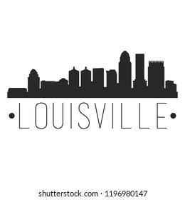 Louisville Kentucky Skyline Silhouette City Design Vector Famous Monuments