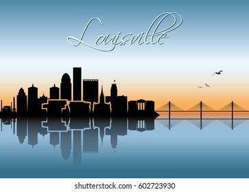 Louisville skyline - Kentucky - vector illustration