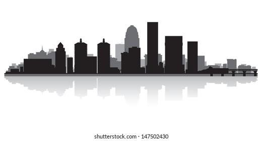 Louisville USA city skyline silhouette vector illustration