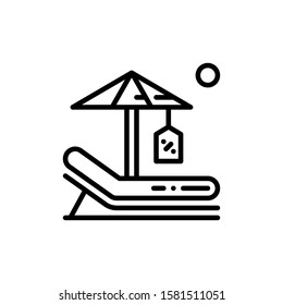 Lounge Chair Icon Outline Vector. Holiday Sale Icons. Online Shop Ikon.