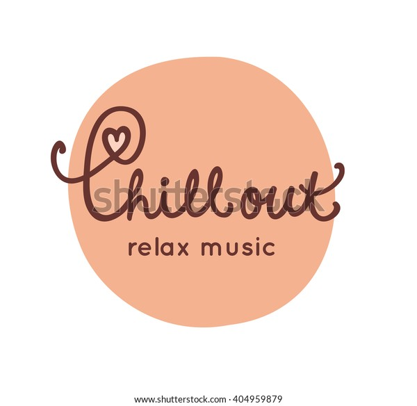 Lounge Chill Out Music Logo Template Stock Vector (Royalty