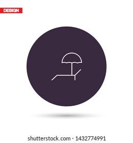 Lounger Beach Sunbed Chair vector icon . Lorem Ipsum Illustration design