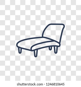 lounger icon. Trendy linear lounger logo concept on transparent background from Furniture and Household collection